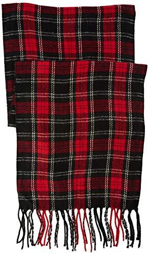 New Look Tartan Check, Bufanda para Hombre, Rojo (Red Pattern), única (Talla del Fabricante: 99)