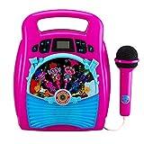 Trolls World Tour Bluetooth Reproductor porttil de mquina de Karaoke MP3 con Tienda de espectculos de luz Horas de msica con Memoria incorporada Cante Junto con el Puerto USB