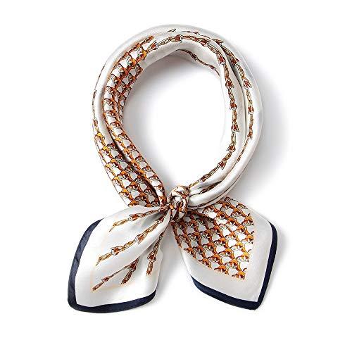 JIAN Schal Mulberry Silk Multifunktionaler Kopfschmuck Schal Seide Kleiner quadratischer Schal Weiblich Professionelle Wilde Geschenkdekoration Kleiner Schal