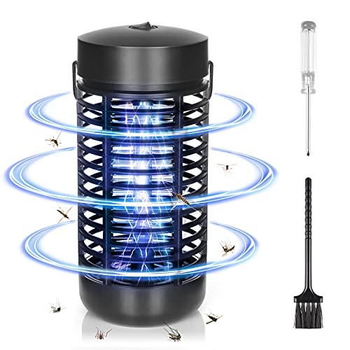 Czemo Lámpara Antimosquitos Eléctrico UV, LED Mosquito Lámpara Trampa, Alto Voltaje, Fácil...