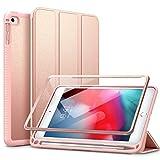 SURITCH Funda Carcasa para iPad Mini 5 2019 / iPad Mini 4 con Soporte Función, Auto-Sueño/Estela Case con Protector de Pantalla Incorporado para Apple iPad Mini 5/4, Oro Rosa
