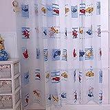 Cortina de coche de dibujos animados de ambiente amigable para los niños acabados impresas cortinas de tul