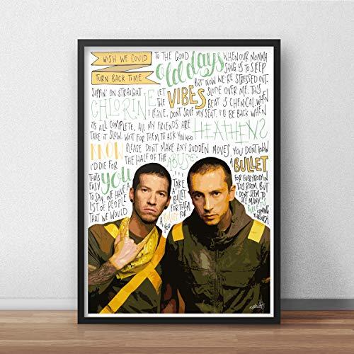 Von Twenty One Pilots inspiriertes Poster/Druck