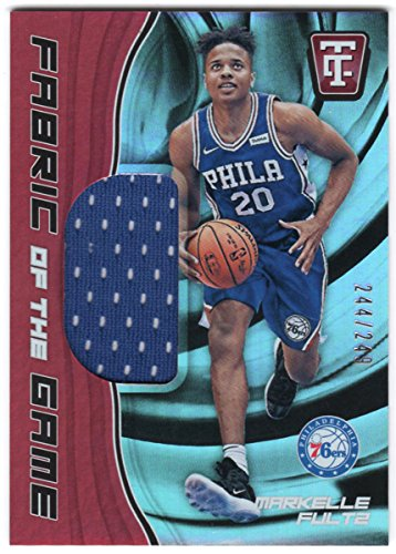 Markelle Fultz 2017-18 Panini Totally Certified Rookie Fabric of the Game Jersey Card Serial #244/249 Philadelphia 76ers