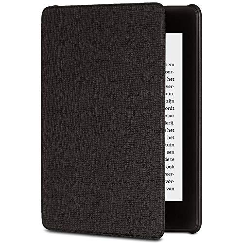 Amazon Kindle Paperwhite Lederen hoes, compatibel met de 10de generatie 2018, zwart