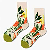WLQXDD 3 Pares comienzan a venderse Calcetines Unisex Art Jacquard Harajuku Crew Happy Socks Street Abstract Animal Cute Women Hip Hop Men Socks Divertidos Chaussette Ho