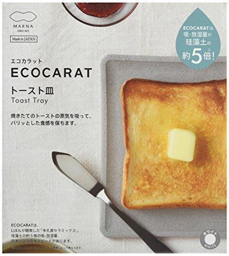 マーナ(MARNA) エコカラット トースト皿 ホワイト 多孔質セラミック K686W