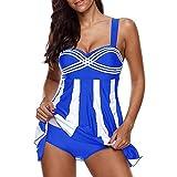 Costume Intero Donna retrò Costumi da Bagno Elegante Ventre Regolabile Push Up Spiaggia Moda Tankini Spiaggia Sexy Mare Vacanza Luna di Miele Affascinante Costume da Bagno Swimsuit Beachwear 4XL