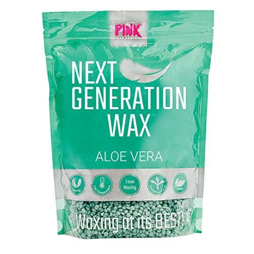 Next Generation Wax Aloe Vera Wachsperlen (800 g) – Premium Wachs geeignet für sensible Haut – Veganes Waxing ohne Vliesstreifen, Haarentfernung ab 1 mm Haarlänge, Brazilian Waxing