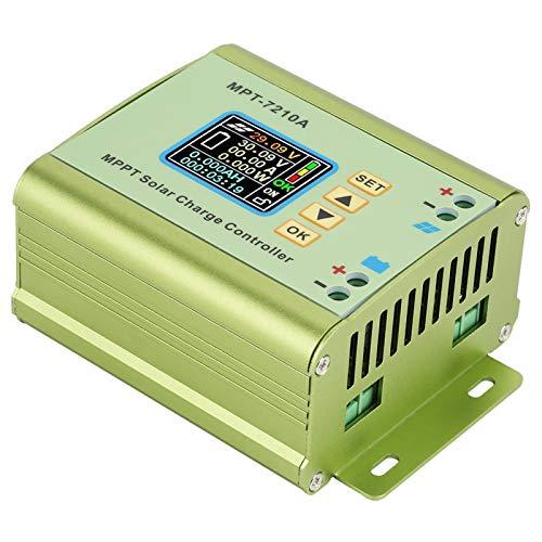 Caiqinlen Controlador Solar LCD, Controlador de Carga del Panel Solar, MPT-7210A Pantalla LCD en Color TFT 160 * 128 20-600 W para Carga de batería de Litio