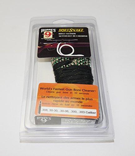 Hoppes Boresnake - Limpiador de armas para pistolas, pistolas, pistolas y armas largas, cordón de limpieza Bore Snake, producto de BRD ETU24 Kal.308, 30-30.30-06.300.303