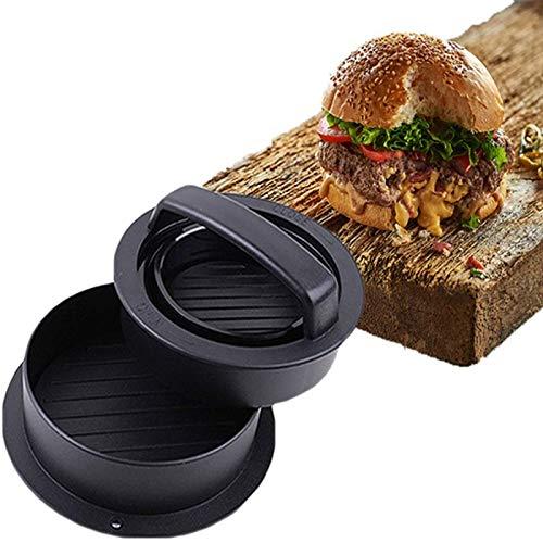 JILEI Burgerpresse-Set 5in1 GROßES Modell Burger Pattie Presse für Hamburger ideales Grillzubehör BBQ mit Backpapier Patty Burger zum Grillen Küchenutensilien für Mini Burger und Grill Pattie