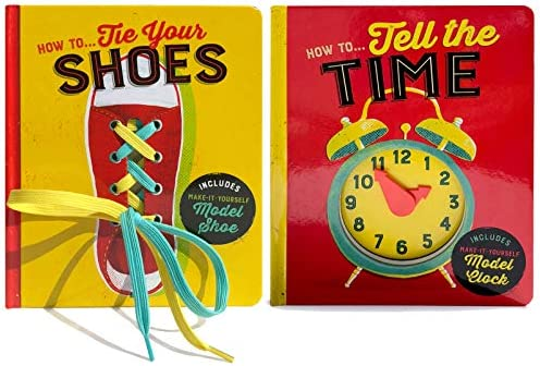 2 Pack How To Board Boards How To Tie Your Shoes How To Tell Time product image