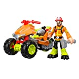 Kids Will Love Creating All Sorts of Action-Packed Missions with Fun and Exciting Rescue Heroes Forrest Fuego & Fire Tracker Vehicle,Great Gift Idea for Kids