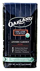 Oakland Coffee sources and roasts premium origin, high-quality coffee from small farms and cooperatives predominantly in Central and South America. The Atomic Garden Blend was hand-picked by farmers in agriculturally rich regions of Honduras and Colo...