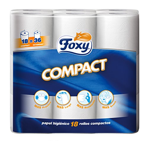 Foxy Compact Papel Higiénico - 18 rollos (Papel WC)