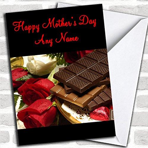 Chocolade en rozen op maat Moederdag Groeten Kaart- Moederdag Kaarten