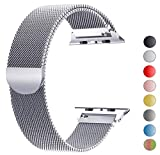 Tervoka Ersatzarmband kompatibel mit Apple Watch Armband 40mm 38mm, Metall Edelstahl Ersatzarmband kompatibel mit iWatch Series 5/4/3/2/1 Silber