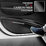 Autotür Anti Kick Pad Kohlefaser Leder PVC Tür Schutzfolienaufkleber, für BMW M Leistung E90 F30 F10 F07 F20 F25 F26 F15 F16 E84 X1 X3 X5 3GT 5GT 6GT G01 G05 G03 (G05(2018-2024) X5)
