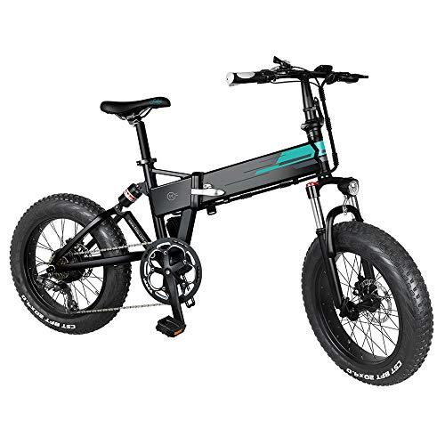 Autoshoppingcenter Bicicleta Eléctrica Plegable Ciclomotor Ruedas Anchas 20 x 4 Pulgadas 250W 30km/h Bicicleta de Ciudad/Montaña/Todo Terreno de Aluminio Bateria Litio Display LCD 3 Modos [EU Stock]