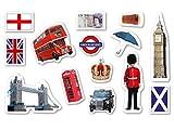 XXL-Großkonfetti * ENGLAND * mit 42 großen Konfetti-Teilen für eine Motto-Party oder...