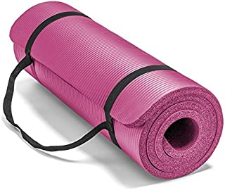 Spoga, Premium 5/8-inch Extra Thick 71-inch Long High Density Exercise Yoga Mat with Comfort Foam and Carrying Straps, for Exercise, Yoga, and Pilates