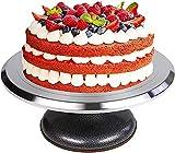 LFM Pastel de Torta Giratorio aleación de Aluminio revolviendo Soporte de cerámica Bricolaje Mostrar Stand Cake Decorating Turntable Fácil de Usar y Limpio Moldes de Anillo