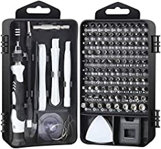 NEKRASH Multi-Function Magnetic 117 in 1 Mini Precision Screwdriver Set with Case and Replaceable Bits for iPhone, Mac, Computer, Glasses, Electronics (Black)