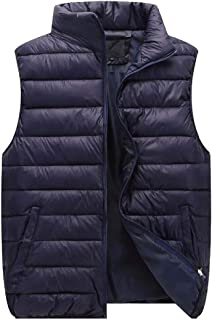 Macondoo Women Unisex Cotton-Padded Jacket Waistcoat Coat Quilted Vest