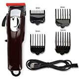 Hair Clippers for Men, Cordless Home Trimmer Cutting Kit Wireless Usb Hair Clipper Trimmer Electric Hair Cutting Machine Cutter Clipper with 4 Guide Combs