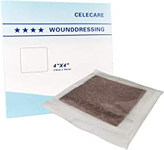 CELECARE Silver Alginate Wound Dressing Sterile,Silver Bandages for Wounds Care, 4 Count (4