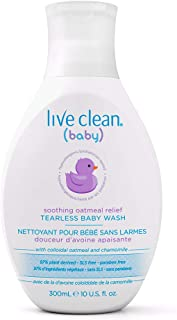 Live Clean Baby Soothing Oatmeal Relief Tearless Wash, 10 oz.