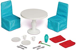 Adorable Easy Care My Life As Dining Set Includes 2 Chairs With Slipcovers, A Table With Weighted Base, 2 Placemats, 2 Pla...