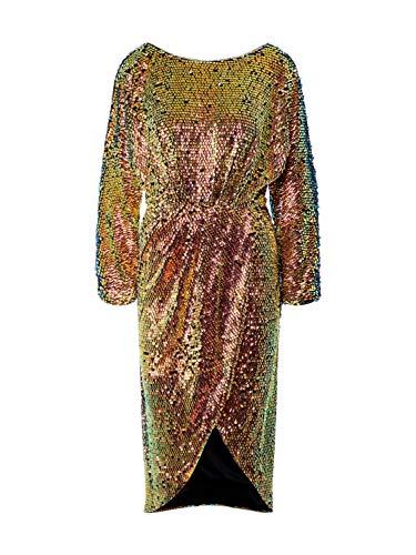 TFNC Damen Cocktailkleid Gold S (36)
