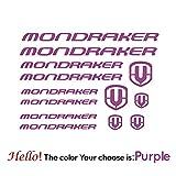 BYTT Etiqueta engomada de la calcomanía de cortes de vinilo personalizada para la decoración del arte de la bicicleta Mondraker, Vinilo - Lamina BicicletA- Bike-Bici □ Mondraker