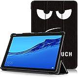 Huawei MediaPad M5 Lite 10 Funda, Carcasa Ultra Delgado y Ligero con Cubierta de Soporte y Función Auto-Sueño/Estela para Huawei MediaPad M5 Lite 10 - Tablet DE 10.1' Full HD, Ojos Grandes
