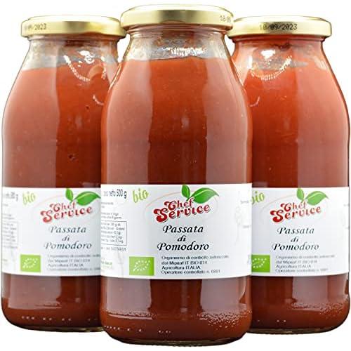 Chef Service Passata di pomodoro biologica ed artigianale - 3 pezzi da 500 gr