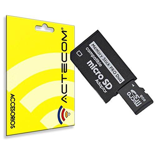 actecom® Adaptador Tarjeta Micro SD/MICROSD A PSP Memory Stick Pro Duo