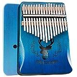 BelonLink Kalimba 17 Clés Pouce Piano, avec instructions d'étude, Tuning Hammer, Portable sac, bois Acajou, Haute Qualité pour Les enfants adultes débutants, Cadeau Musical (Bleu)