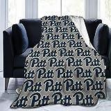 Cacazi P-Itt Pitt-Sburgh Pan-Thers Throw Blanket Ultra Soft Flannel Fleece All Season Light Weight Living Bedroom Warm Blanket