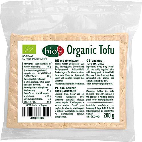 Bioasia Bio-Tofu, japanischer Stil, lange Lebensdauer, Tofu, 200 g, 3 Stück