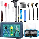 Rustark 42 Piece 3D Print Tool Kit Includes Debur Tool, Cleaning and Removal Tool with Sto...