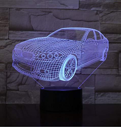 Preisvergleich Produktbild Nachtlicht 3D-Licht Auto Limousine Tischbeleuchtung Heimtextilien Autohändler Dekoration Taschenlampe RGB Multicolor ändern Touch-LED