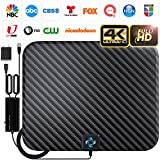 U MUST HAVE Amplified HD Digital TV Antenna Long 200 Miles Range - Support 4K 1080p Fire tv Stick and All TV's - Indoor Smart Switch Amplifier Signal Booster - 18ft HDTV Cable/AC Adapter, Carbon v.