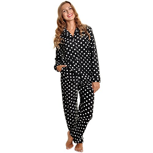 Angelina Women's Cozy Fleece Pajama Set, PJ56_L