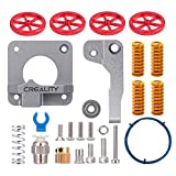 Creality All Metal MK-8 Extruder Feeder Drive 3D Printer 4PCS Aluminum Leveling Hand Twist Nut and 1M Capricorn PTFE Bowden Tubing XS Series for Ender 3 / Ender 3 Pro/Ender 5