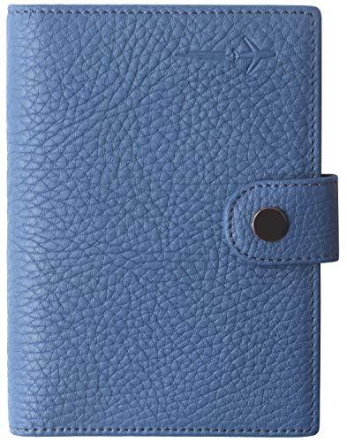 Passport Holder Cover for Women Cute US Slim Ultra RFID Blocking family 2 Passport Wallet Blue
