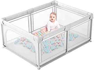 Laufstall Baby Dripex Laufgitter Absperrgitter mit atmungsaktivem Netz 120x180cm..