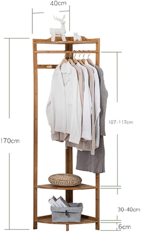 DQMSB Coat Rack Bamboo Corner Shelf Storage Rack Hanger Corner Corner Frame Floor Coat Rack Coat Racks (Size   40cm)