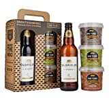 Mr Tubs Premium Hand Cooked Pork Crackling & Oldfields Original Cider (1 Bottle) Gift Set Carry Case